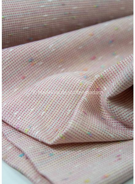 Editex speckles baby pink - cotton mix