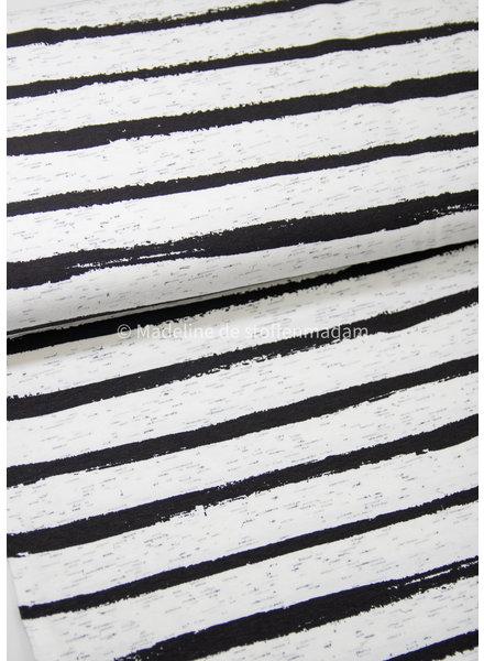 M street art stripes ecru - jersey