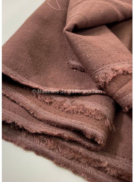 M 100% linen - chocolat brown - 8 oz