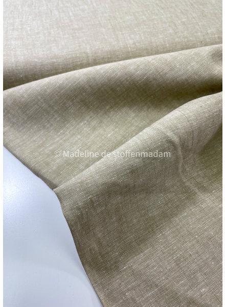M beige - linnen katoen blend 6 oz