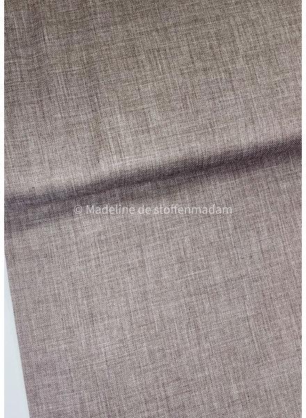 M taupe cotton blend - linen look