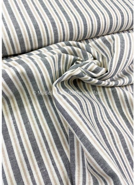 A La Ville vertical stripes lurex - linen viscose blend