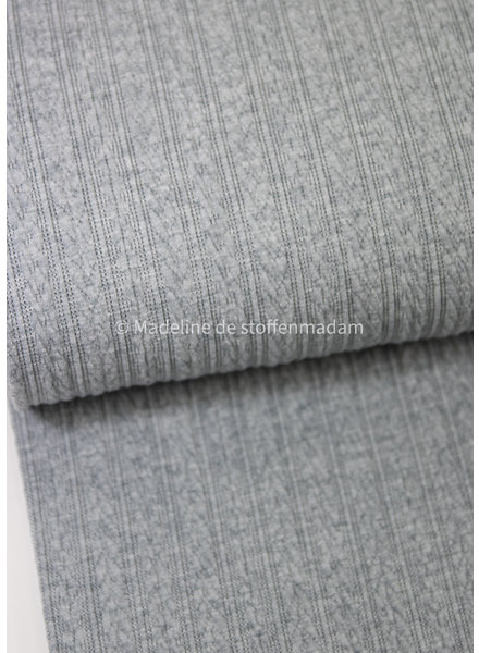 M grey knitted viscose fabric