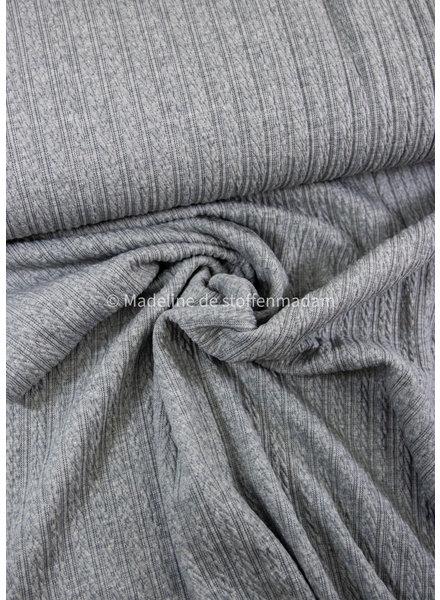 M grey knitted viscose fabric