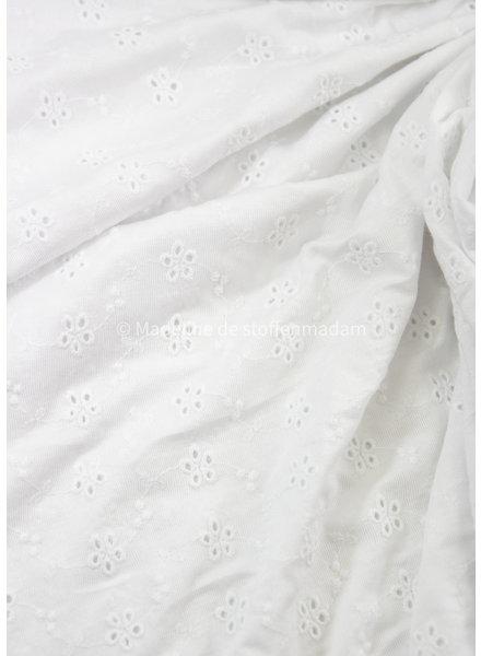 M white embroidery viscose jersey