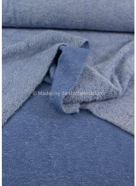 blauw - chambray badstof