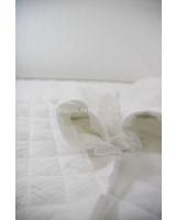 M cloudy white - stepped tetra double gauze
