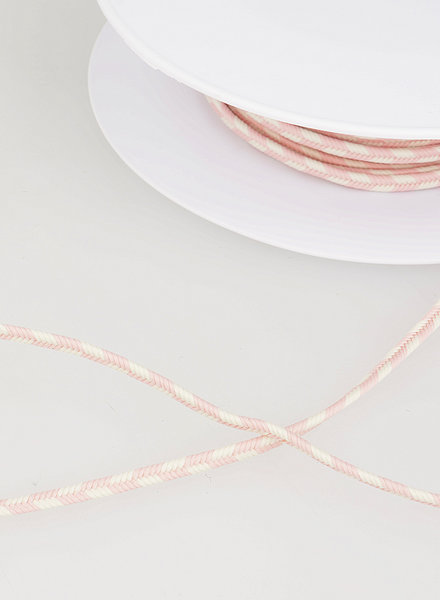 M two tone touw vlecht - roze 74