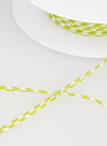 M two tone  braided string - lemon 74