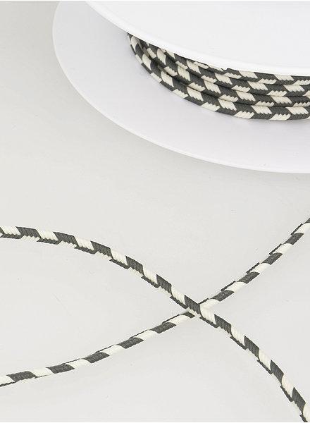 M two tone  braided string - grey 38
