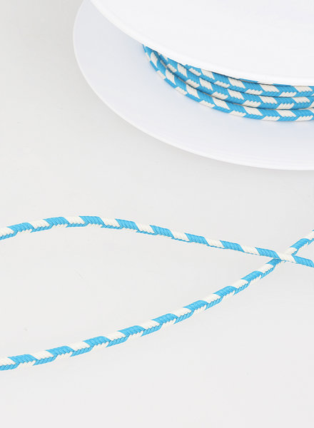 M two tone  braided string - turquoise 20