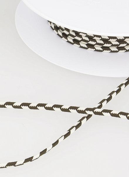 M touw vlecht - donkerbruin 60