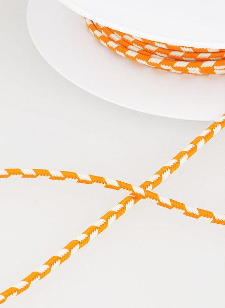 M two tone  braided string - orange 83