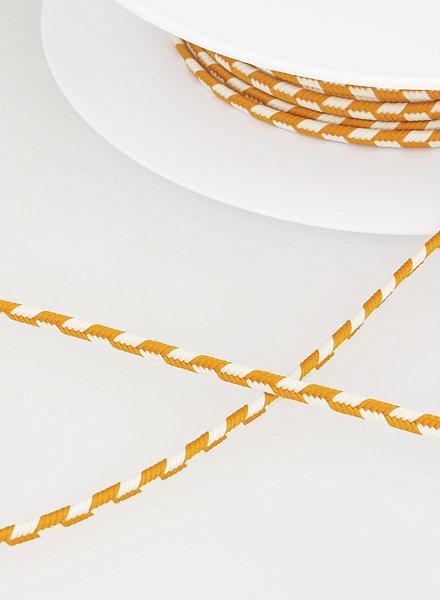 M two tone  braided string - ochre 42