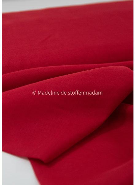 M red - silk cotton blend