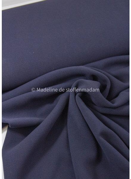 A La Ville marineblauw - dikke damesstof - Natan broeken en kleedjes kwaliteit - rekbaar