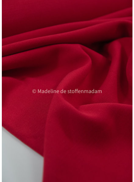 A La Ville rood dikke damesstof - Natan broeken en kleedjes kwaliteit - rekbaar
