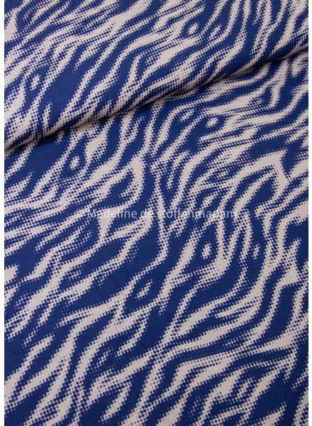 A La Ville marine tijgerprint - viscose