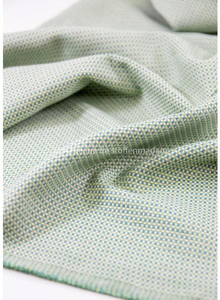 M groen dobby square  - mooie soepele en hele zachte canvas