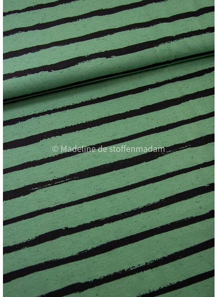 M organic tricot - street art stripes - mint
