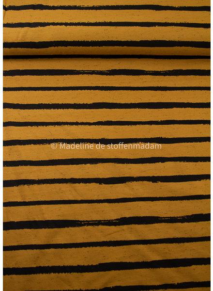M organic tricot - street art stripes - oker