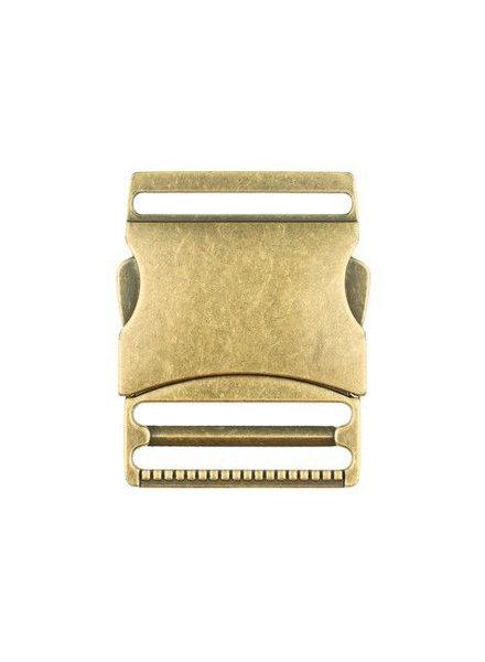 M metalen klikgesp brons - 40 mm