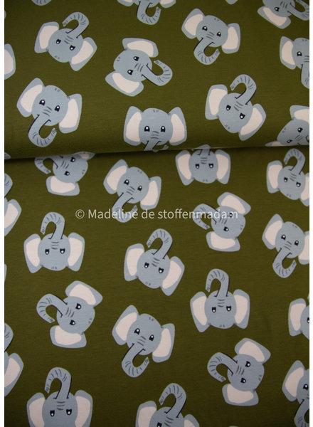 M olifanten khaki - tricot