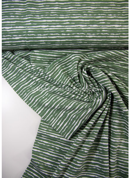 M groen golvende streepjes - tricot