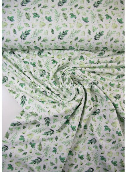 M green leaves - tricot 7oz