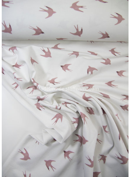 M in vogelvlucht - ecru - tricot