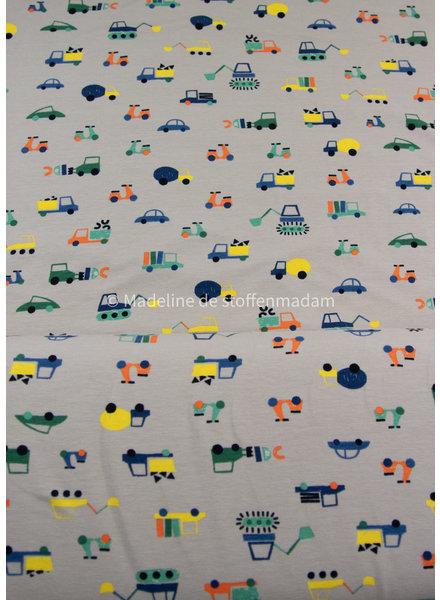 M zand werkvoertuigen - tricot - GOTS label