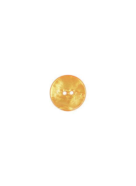 ocher pearl button  - 15 mm