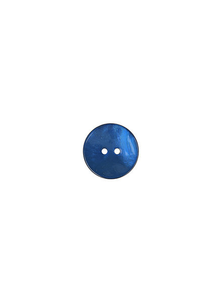 donkerblauw parelmoer knoop - 15 mm