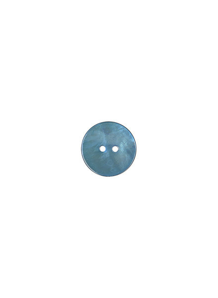 blauw parelmoer knoop - 15 mm