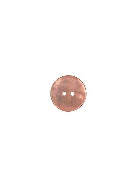 salmon pearl button - 15 mm