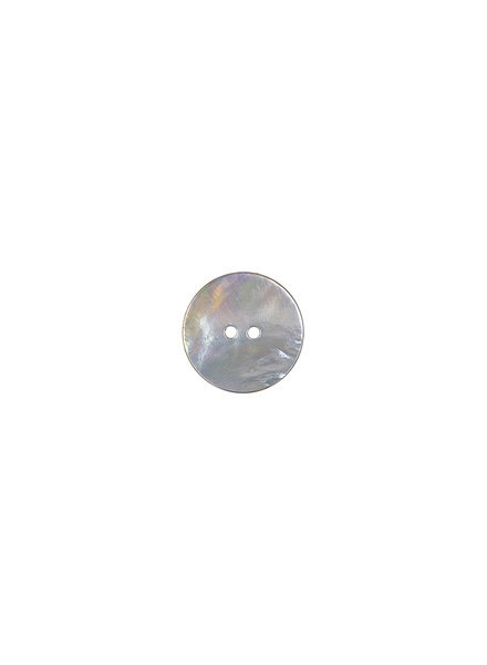 grey pearl button - 15 mm