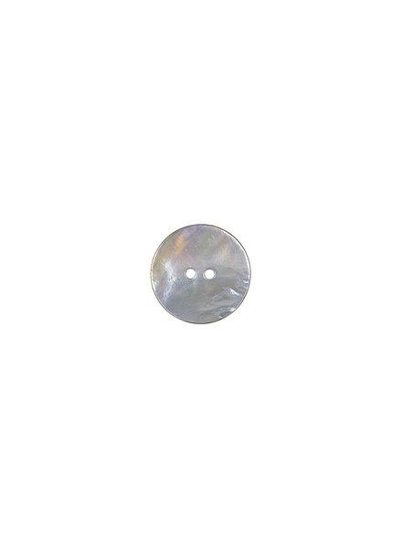 grijs parelmoer knoop - 15 mm