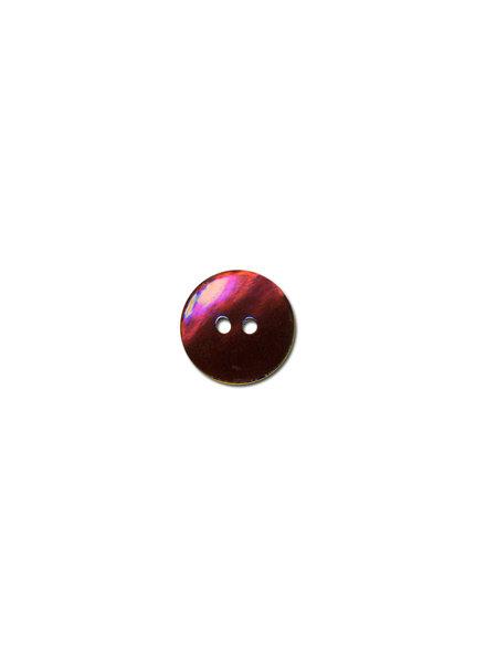 donkerrood parelmoer knoop - 15 mm