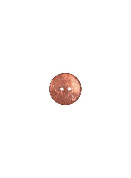 roest parelmoer knoop - 15 mm