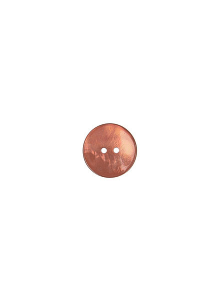 rust pearl button - 15 mm