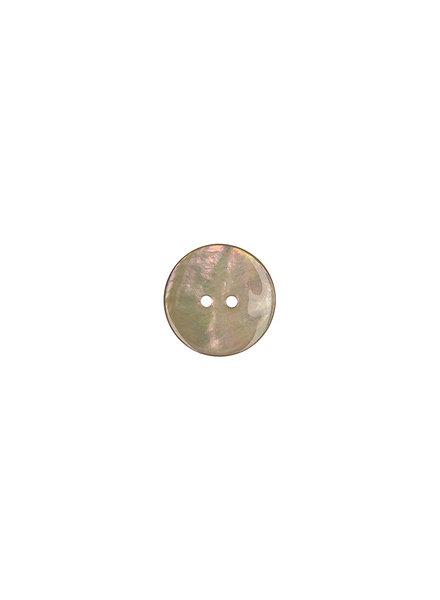 beige parelmoer knoop - 15 mm