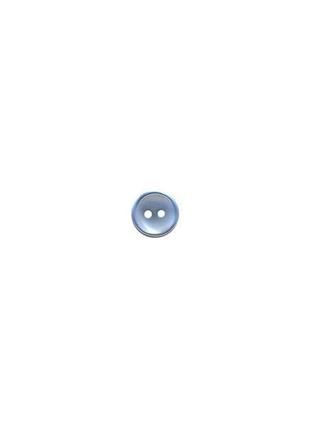 M lichtblauw - hemden knoopje - 11 mm