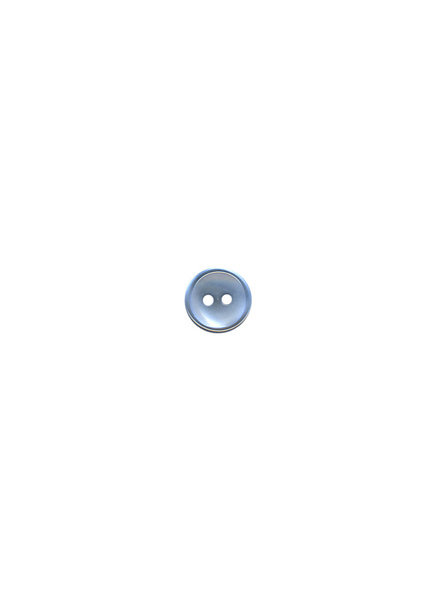 M lichtblauw - hemden knoopje - 9 mm