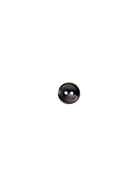 M grijs - hemden knoopje - 11 mm