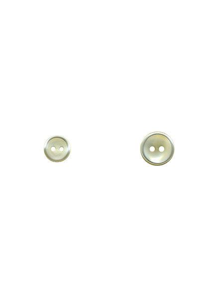 M gebroken wit - hemden knoopje - 11 mm