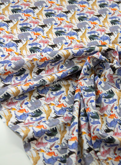 LIBERTY LONDON Queue for the zoo - classic 2 - tana lawn