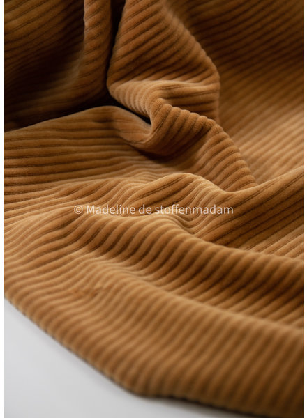 M camel - wide rib  - stretch corduroyuroy - brede ribbel