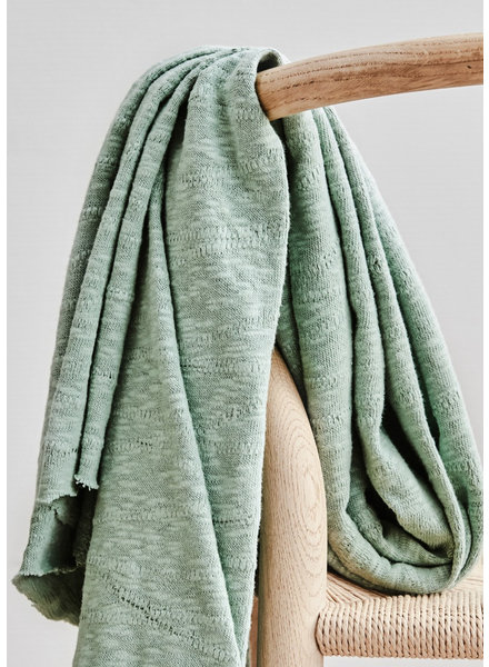 Mind The Maker organic slub jacquard knit - sage green