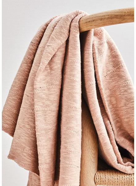 Mind The Maker organic slub jacquard knit - rose