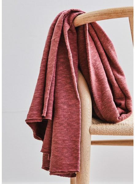 Mind The Maker organic slub jacquard knit - rosewood